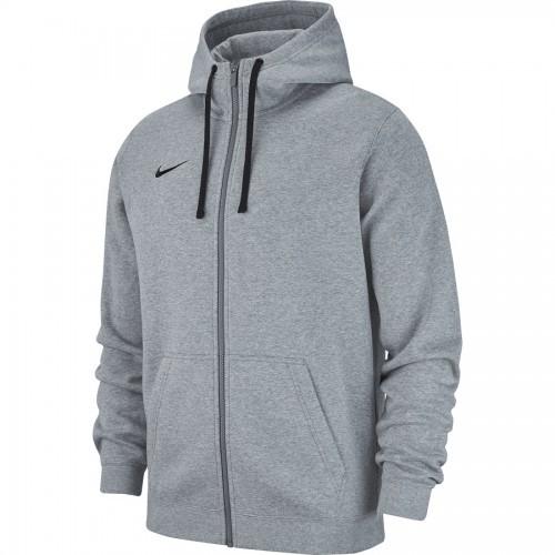 Veste à capuche zip molton gris clair Club 19