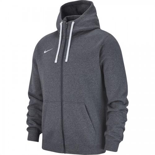 Veste à capuche zip molton gris chine Club 19