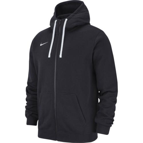 Veste à capuche zip molton noir Club 19