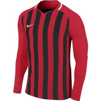 Maillot manches longues rouge/noir Striped Division
