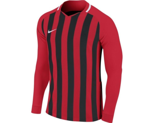 Maillot manches longues enfant rouge/noir Striped Division III