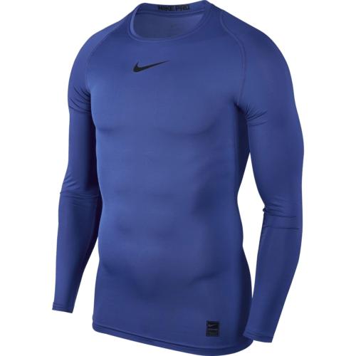 Haut de compression bleu Nike pro