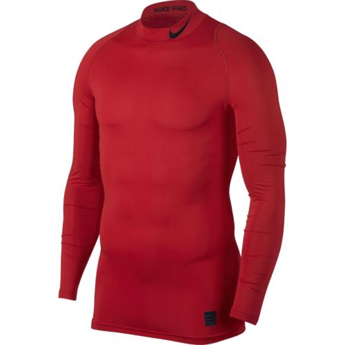 Haut de compression col rouge Nike pro