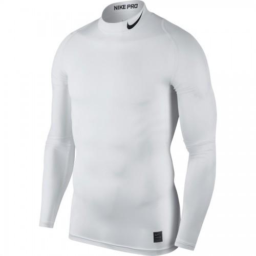 Haut de compression col blanc Nike pro