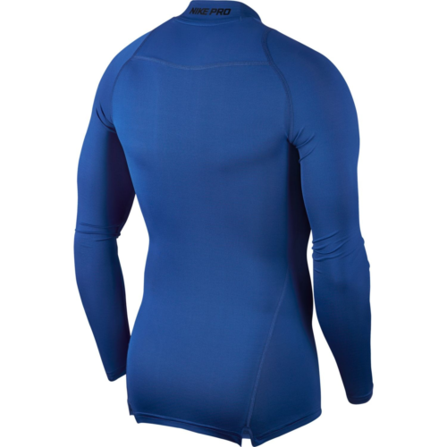 Haut de compression col bleu Nike pro