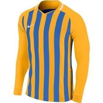 Maillot manches longues enfant bleu/jaune Striped Division III