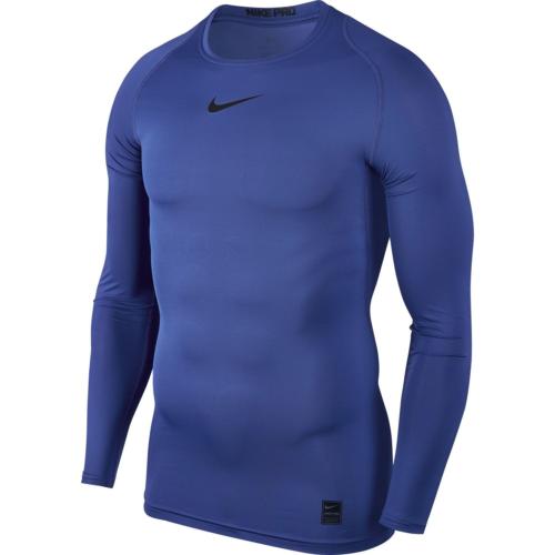 Top de compression bleu Nike pro