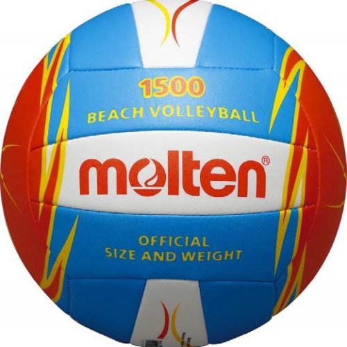 Ballon Beach-volley V5b1500-wnblanc/bleu/rouge