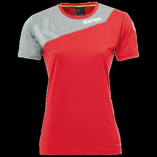 Maillot Femme Core 2.0 rouge/gris foncé chiné