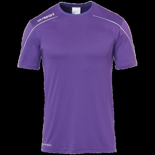 MAILLOT manches courtes violet/blanc