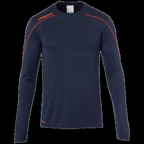 MAILLOT manches longues marine/rouge fluo