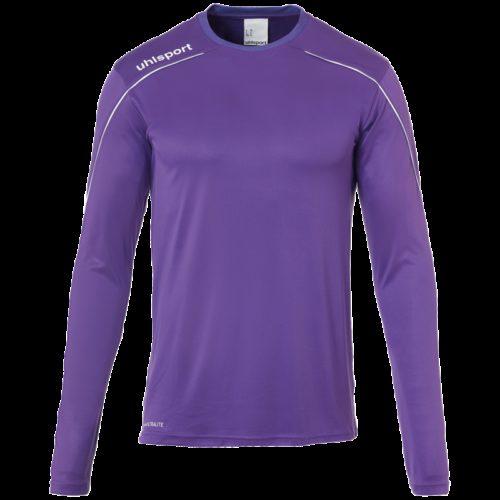 MAILLOT manches longues violet/blanc