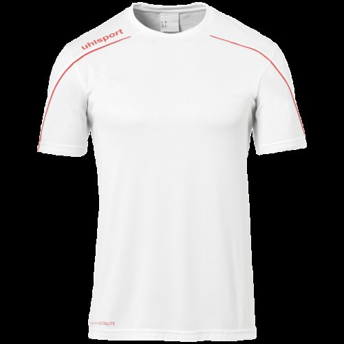 MAILLOT manches courtes blanc/rouge