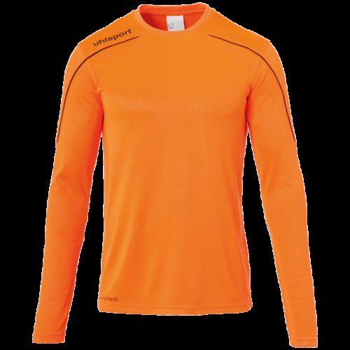 MAILLOT manches longues orange fluo/noir