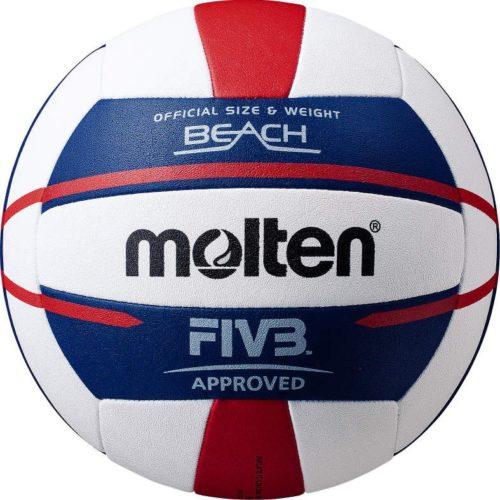 Ballon Beach-volley V5b5000-wnblanc/bleu/rouge
